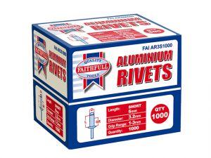 Aluminium Rivets 3.2mm x 6mm Short Bulk Pack of 1000