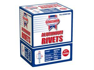 Aluminium Rivets 4mm x 10mm Medium Bulk Pack of 1000