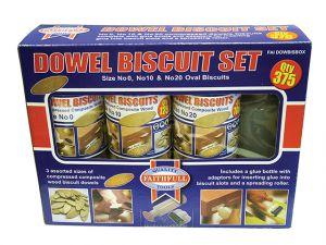 Biscuit Wood Kit (150 x No.0 125 x No.10 100 x No.20)