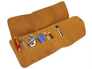 10 Pocket Leather Tool Roll 48 x 27cm