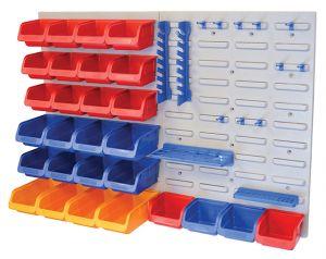 Storage Bin Set with Wall Panels 43-Piece