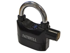 Padlock with Security Alarm 70mm