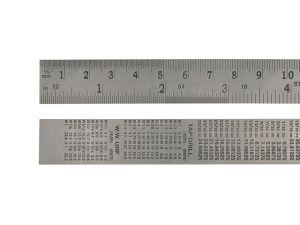 Steel Rule 150mm / 6in x 19mm