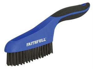 Scratch Brush Soft Grip 4 x 16 Row Steel