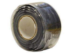 Black Silicone Tape 25mm x 3m