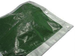 Tarpaulin Green / Silver 5.4 x 3.6m (18 x 12ft)