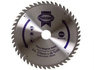 Circular Saw Blade 216 x 30mm x 48T Zero Degree