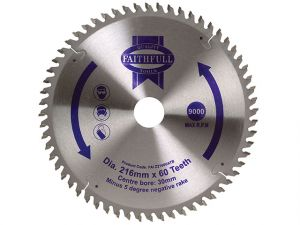 Circular Saw Blade 216 x 30mm x 60T NEG