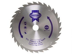 Circular Saw Blade 254 x 16/25/30mm x 30T General-Purpose