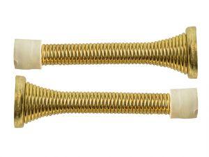Spring Door Stop Brass Finish 80mm Pack of 2