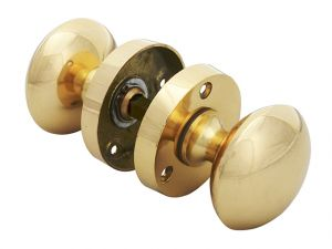 Mortice Knob Set - Brass Finish 53mm (2in)
