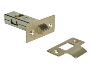 Tubular Mortice Latch Nickel Finish 65mm (2.5in)