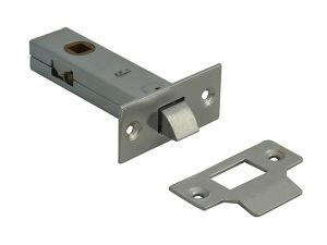 Tubular Mortice Latch Nickel Finish 76mm (3in)
