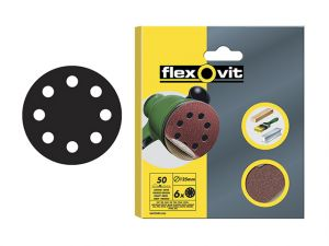 Hook & Loop Sanding Discs 115mm Coarse 50g (Pack of 6)
