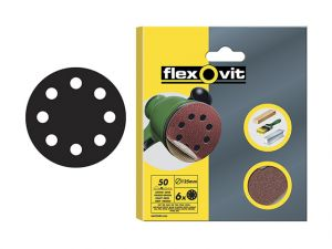 Hook & Loop Sanding Discs 125mm Coarse 50g (Pack of 6)