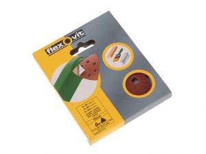 Delta Hook & Loop Sanding Sheets 94mm Medium 80G (Pack 6)