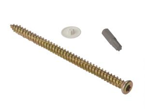 Concrete Frame Screw Torx® Compatible High-Low Thread ZYP 7.5 x 42mm Bag 10