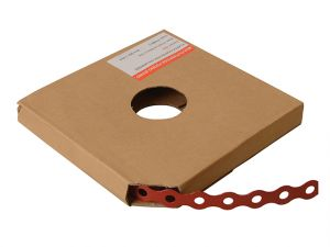 Red Plastic Coated Pre-Galvanised Band 12mm x 0.8 x 10m Box 1