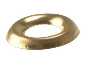 Screw Cup Washers Solid Brass Polished No.8 Bag 200