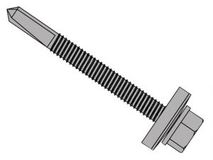 TechFast Roofing Sheet to Steel Hex Screw No.5 Tip 5.5 x 32mm Box 100