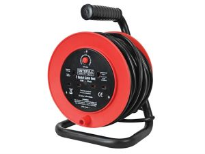 Open Drum Cable Reel 240 Volt 15 Metre 13 Amp 2 Socket