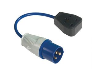Fly Lead 240 Volt 3 Pin Plug to 240v 3 Pin Socket & 35cm Lead