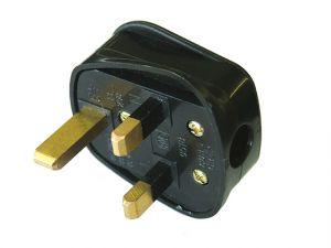Black Plug 240 Volt 13 Amp