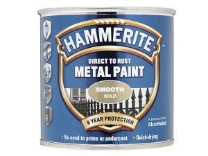 Direct to Rust Smooth Finish Metal Paint Gold 250ml