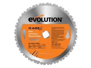 RAGE® Multipurpose Circular Saw Blade 255 x 2 x 25.4mm x 28T