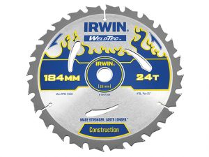 Weldtec Circular Saw Blade 184 x 16mm x 24T ATB