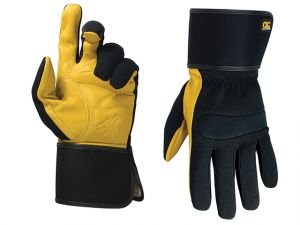 Hybrid-270 Top Grain Leather Cuff Gloves Large (Size 10)