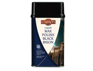 Liquid Wax Polish Black Bison Dark Oak 500ml