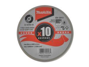 D18764-10 Cutting Discs 115mm (Pack 10)