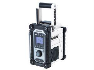 DMR102W Job Site FM Radio White 240V & Battery Powered Bare Unit