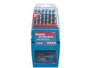 P-57087 Titanium Coated Drill & Driver Set 21 Piece