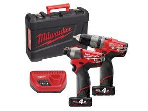 M12 PP2A-404C Fuel™ Twin Pack 12 Volt 2 x 4.0Ah Li-Ion