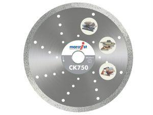 CK750 Diamond Blade Smooth Tile Cut 230 x 30mm Machine