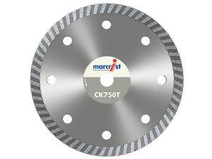 CK750 Turbo Rim Diamond Blade Fast Cut 125 x 22.2mm
