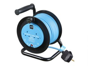 Drum Cable Reel 20 Metre 2 Socket 10A Thermal Cut-Out 240 Volt