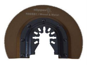 N90SB1 HSS Curved Segment Nitride Coated Multi-Tool Blade 90mm