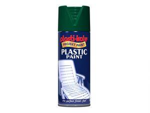 Plastic Paint Spray Hunter Green Gloss 400ml