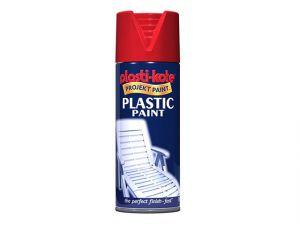 Plastic Paint Spray Red Gloss 400ml