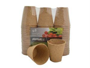 PF Fibre Pots Round 8cm Bulk Pack (48)