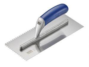 R319-4 Tiler's Trowel U 4mm Notches Edge Plastic Handle 11 x 4.3/4in