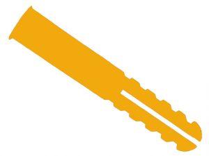 Orange Plastic Plugs Screw Size No.8-12 Pack of 100