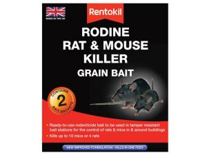 Rodine Rat & Mouse Killer Grain Bait, 2 Sachets