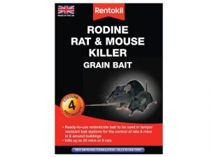 Rodine Rat & Mouse Killer Grain Bait, 4 Sachets