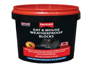 Rat & Mouse Weatherproof Blocks, Tub of 5