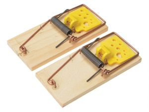 Wooden Mouse Traps Twin Pack