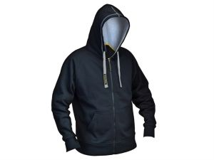 Black & Grey Zip Hooded Sweatshirt - XL (46-48in)